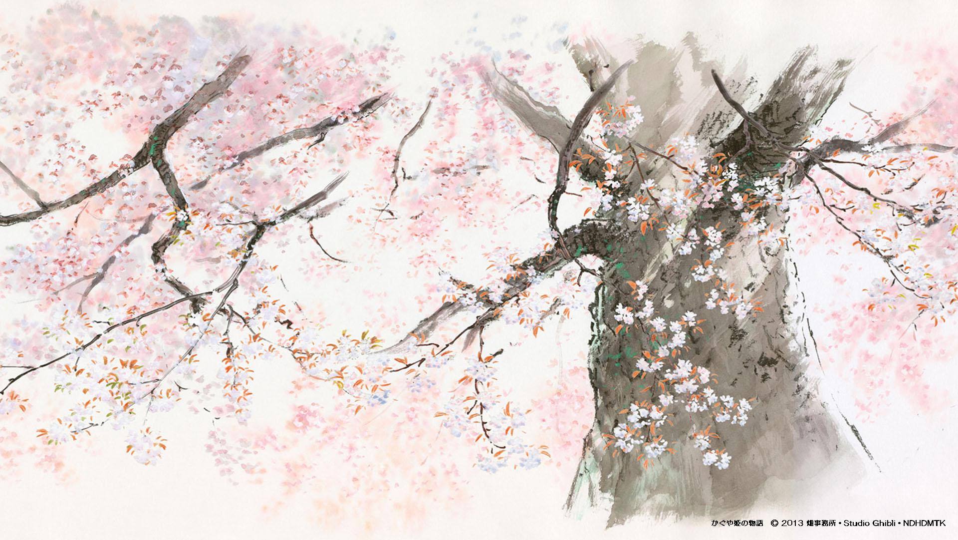 El cuento de la princesa Kaguya (Kaguya-hime no Monogatari, 2013). Estudios Ghibli.