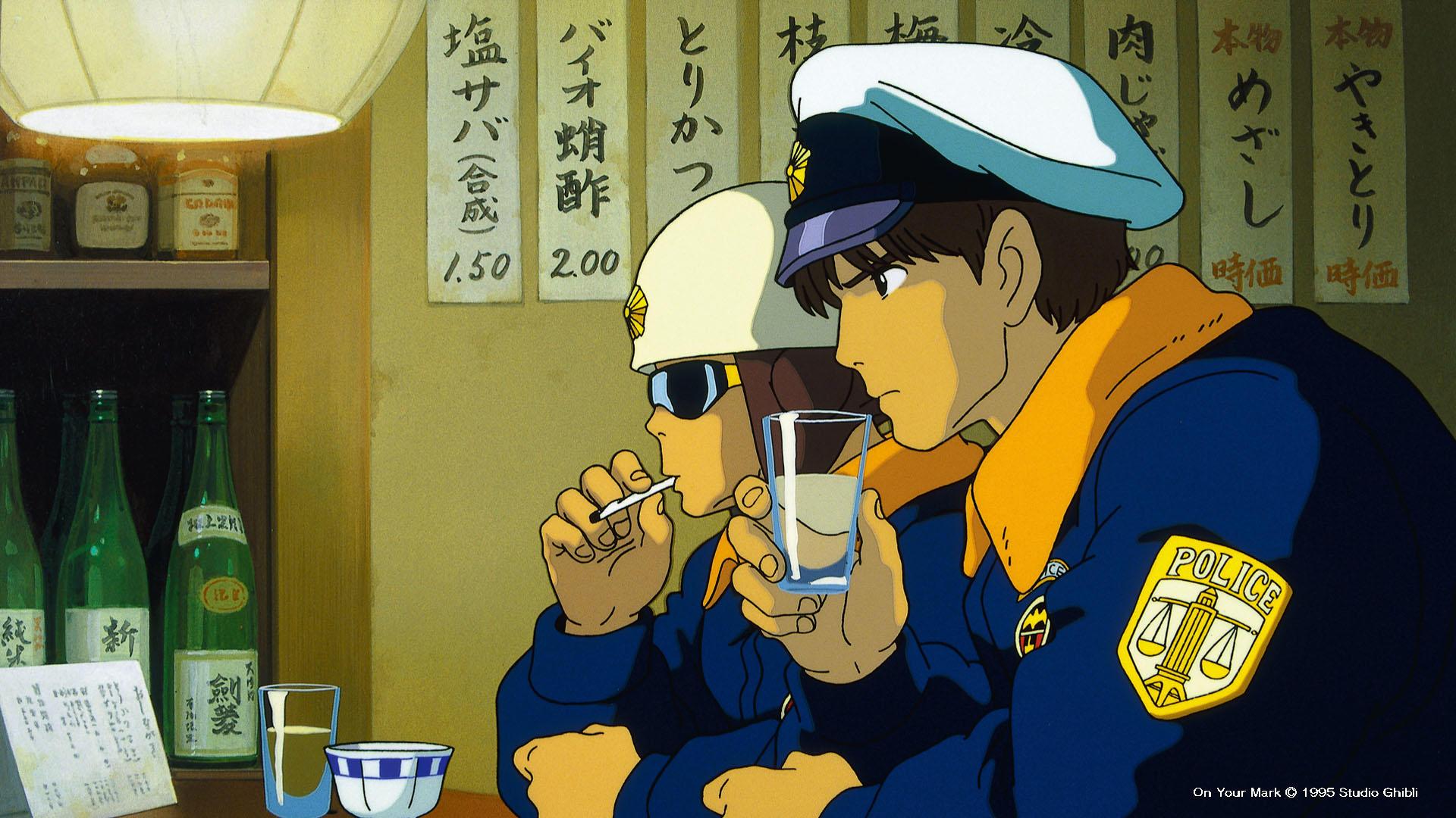 Videoclip On your mark, creado para el dúo de rock japonés Chage & Aska. Estudios Ghibli.